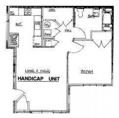 Autumn Manor - Handicap 1 Bedroom Unit