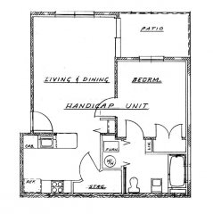 Cedar Grove Phase I - 1 Bedroom Handicap Unit
