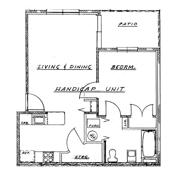 Cedar Grove Phase I - 1 Bedroom Handicap Unit