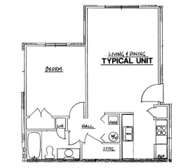 Northside Phase I - 1 Bedroom Unit