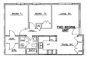Northside Phase I - 2 Bedroom Unit