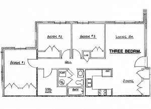 Northside Phase I - 3 Bedroom Unit
