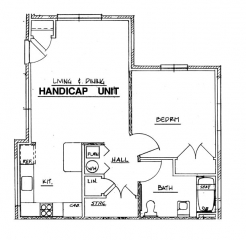 Northside Phase I - 1 Bedroom Handicap Unit