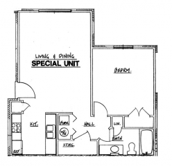 Northside Phase I - 1 Bedroom Special Unit