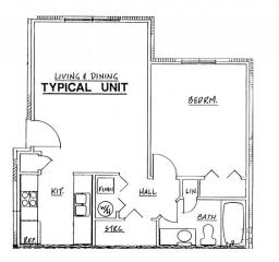 Northside Phase II - 1 Bedroom Unit