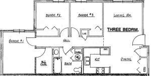 Northside Phase II - 3 Bedroom Unit