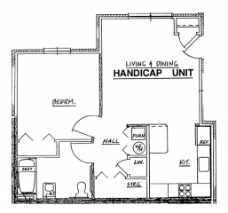 Northside Phase II - 1 Bedroom Handicap Unit