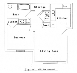 Sunset Village - One Bedroom Elderly