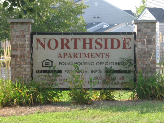 Northside Apartments Sign